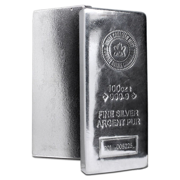 100 Oz Silver Bar Royal Canadian Mint Ottawa Bullion