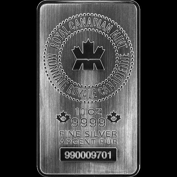 10 Oz Silver Bar Royal Canadian Mint Monster Box Ottawa