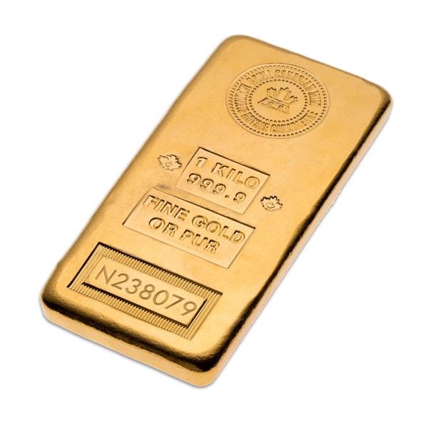 Kilo Gold Bar Royal Canadian Mint Ottawa Bullion Wholesale