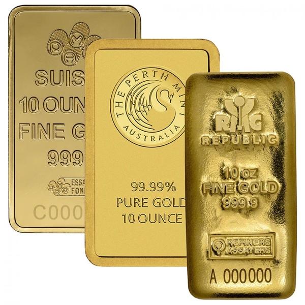 10 Oz Gold Bar Various Brands Ottawa Bullion Wholesale