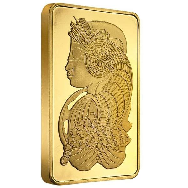 5 Oz Gold Bar Pamp Fortuna Veriscan Ottawa Bullion