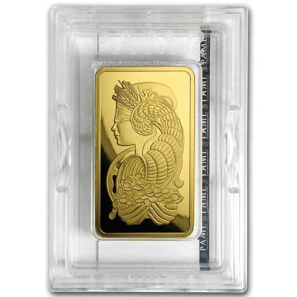 5 Oz Gold Bar Pamp Fortuna Veriscan Ottawa Bullion